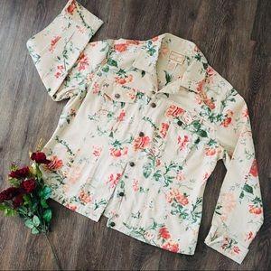 April Cornell Cream  Floral Jacket!
